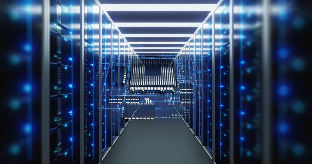 3d Illustration Of Storage Server Room