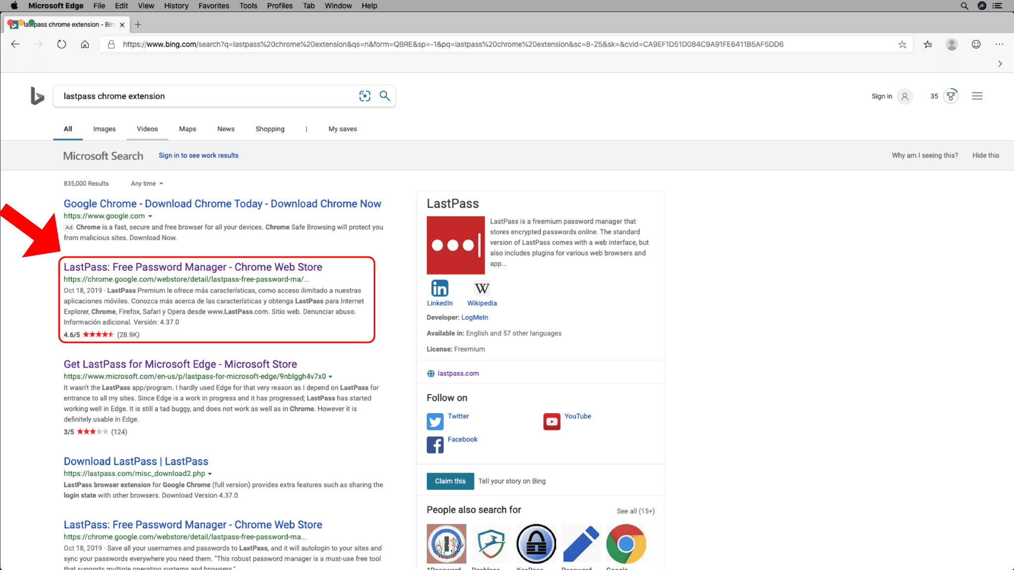 Microsoft Edge - Add Chrome Extensions - Step 3