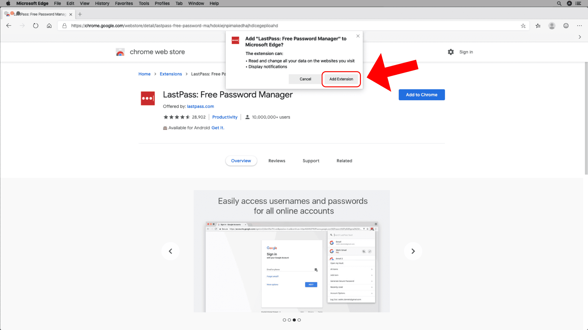 Add Chrome Extensions - Step 5