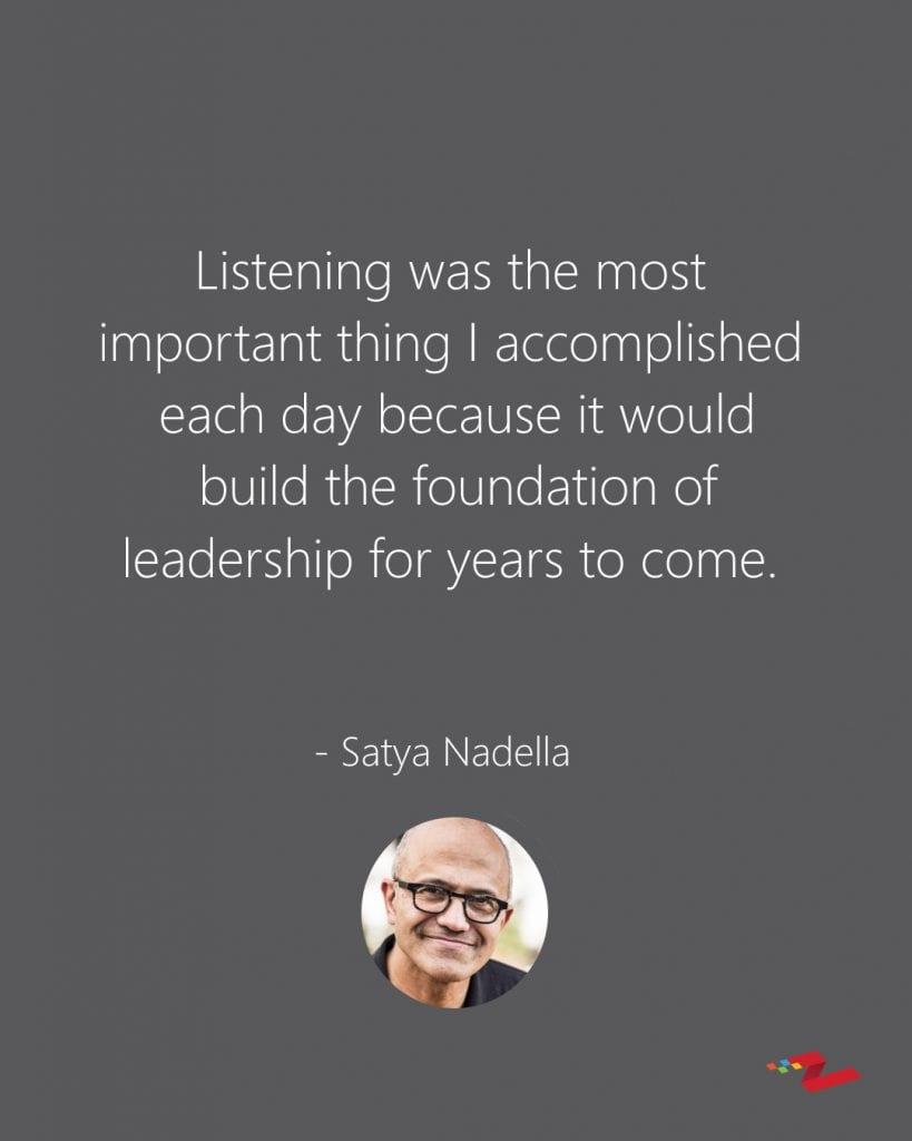 Satya Nadella Quote on Leadership